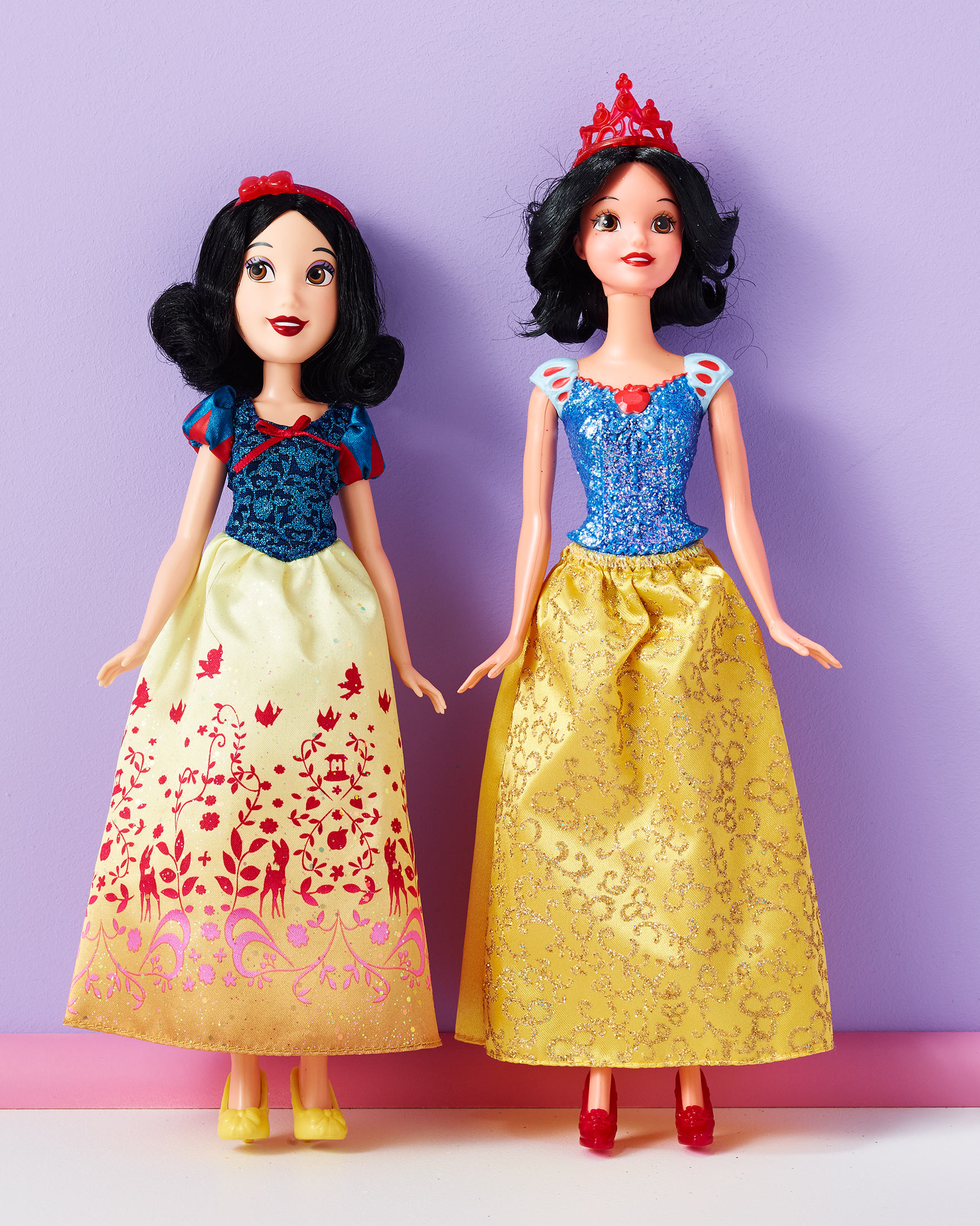 From Left Hasbros Snow White And Mattels