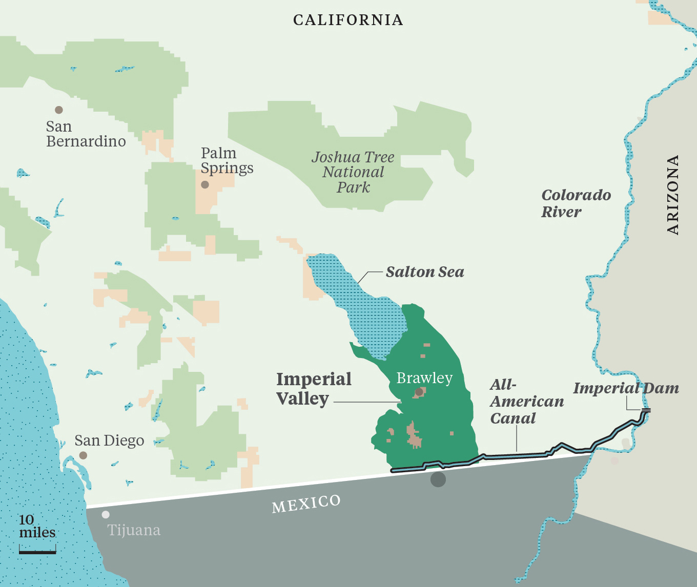 The Water Barons Of Californias Imperial Valley - Rivers in southern ca us map