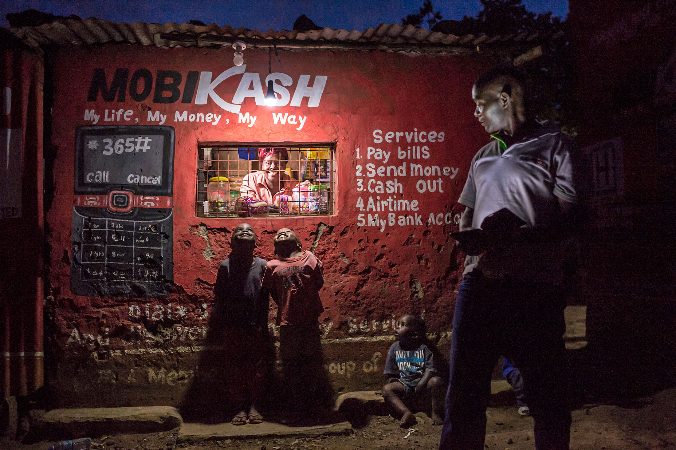 Customers, small-scale businesses, food vendors, and mobile phone scratch card and money-transfer agents are benefiting from solar lights to conduct economic activities after sunset.