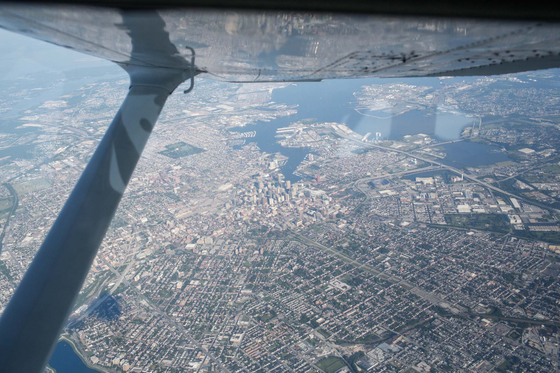 Aerial view of Baltimore
