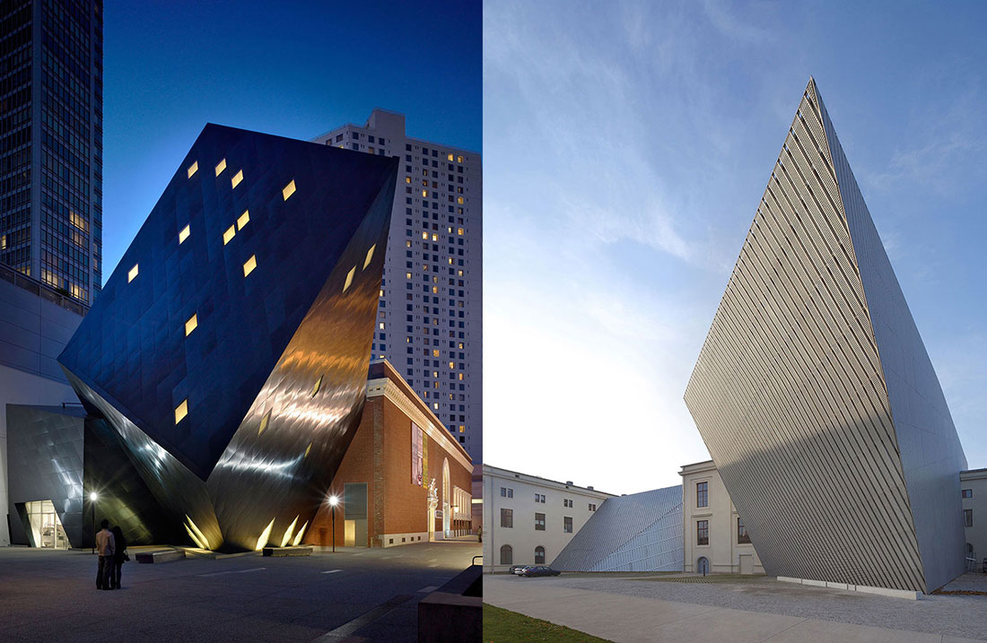 Contemporary Jewish Museum, San Francisco, 2008; Military History Museum, Dresden, Germany, 2011.