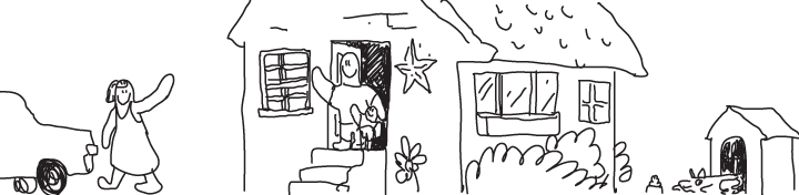 child-like drawing of stay at