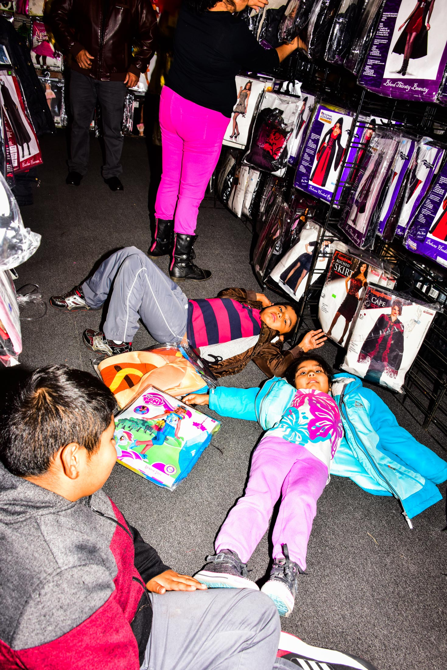shopping fatigue at rickys halloween pop up shop in downtown brooklyn