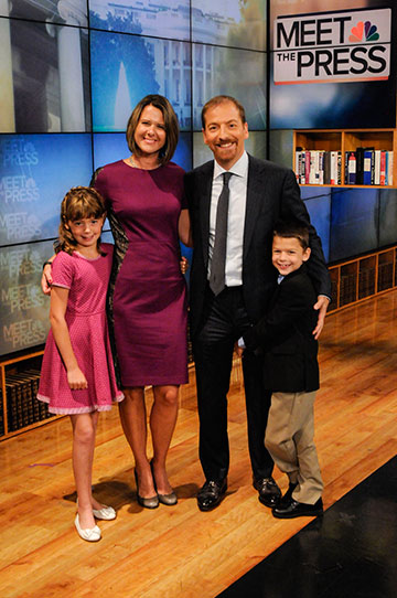 Image: Chuck Todd with Kristian Todd and kids