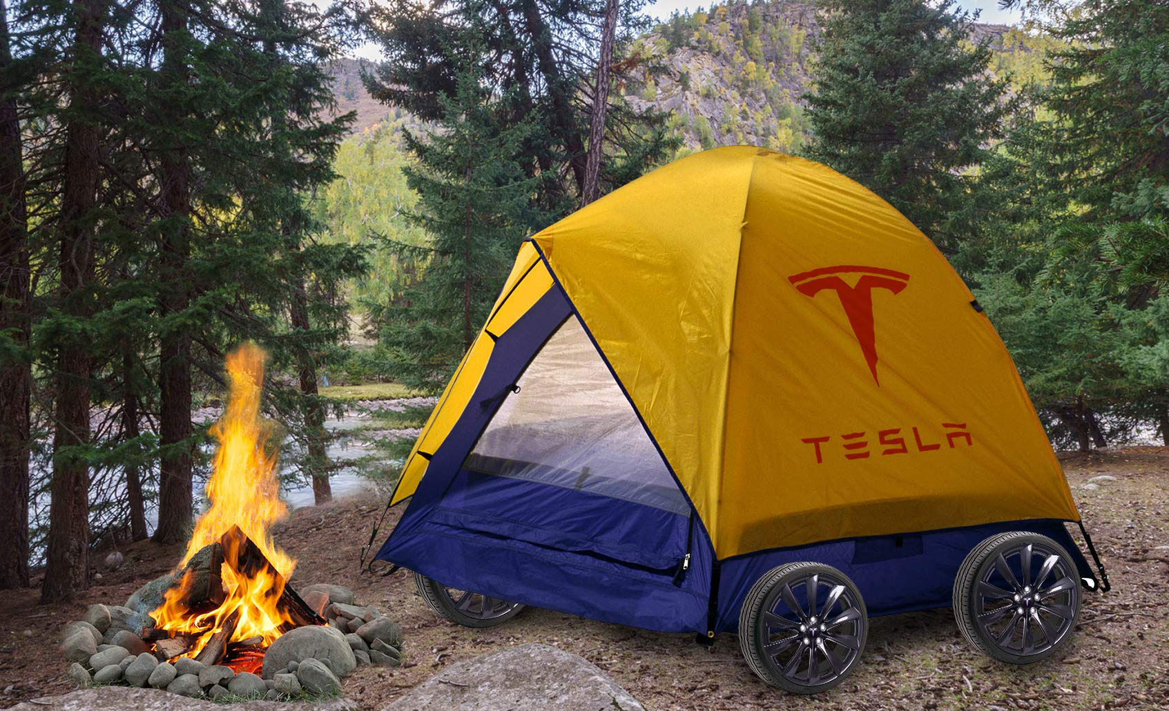 I Went Camping in the Trunk of a $145,000 Tesla