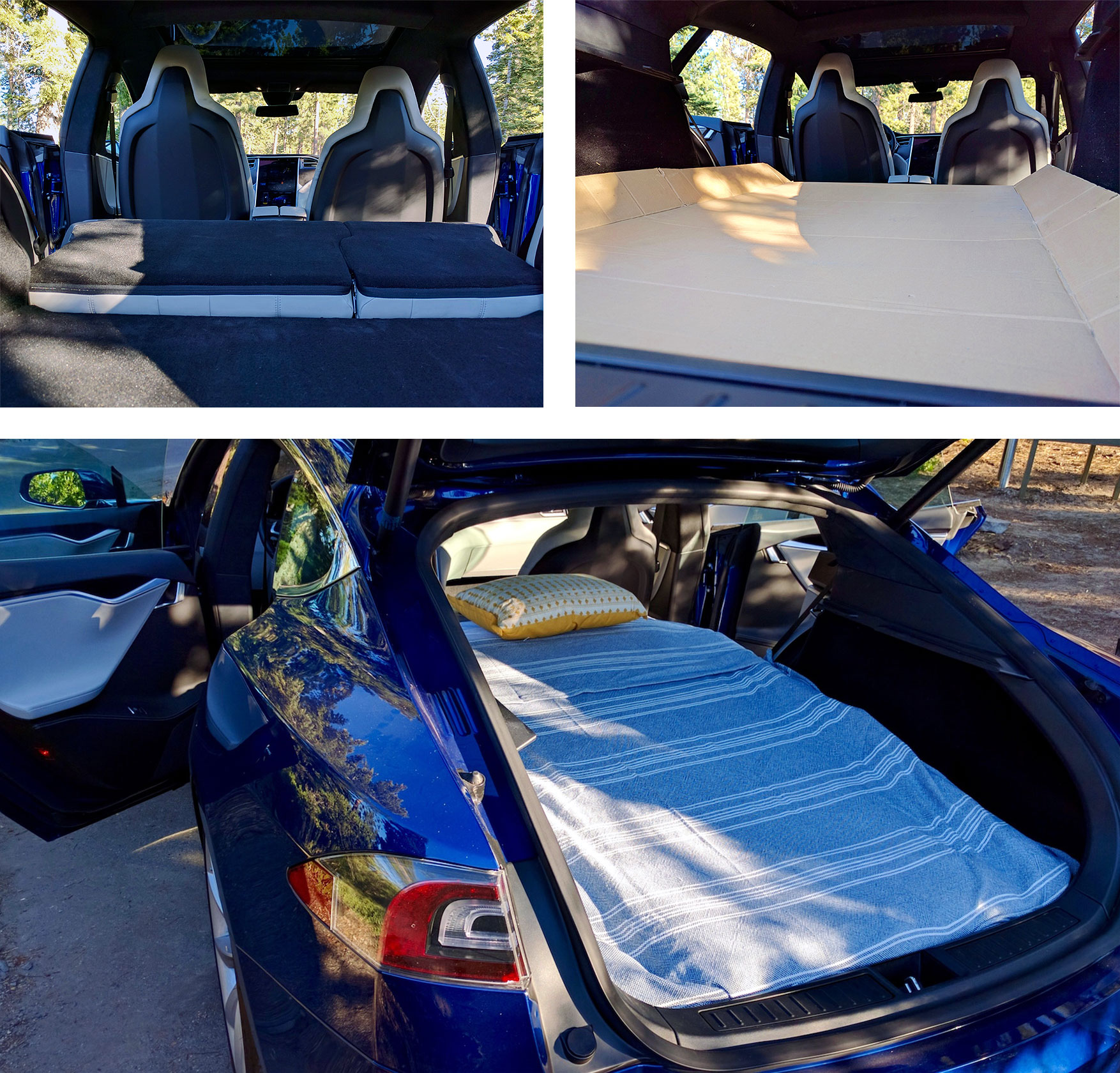 Tesla Camper Mode I Went Camping In The Trunk Of A Model S
