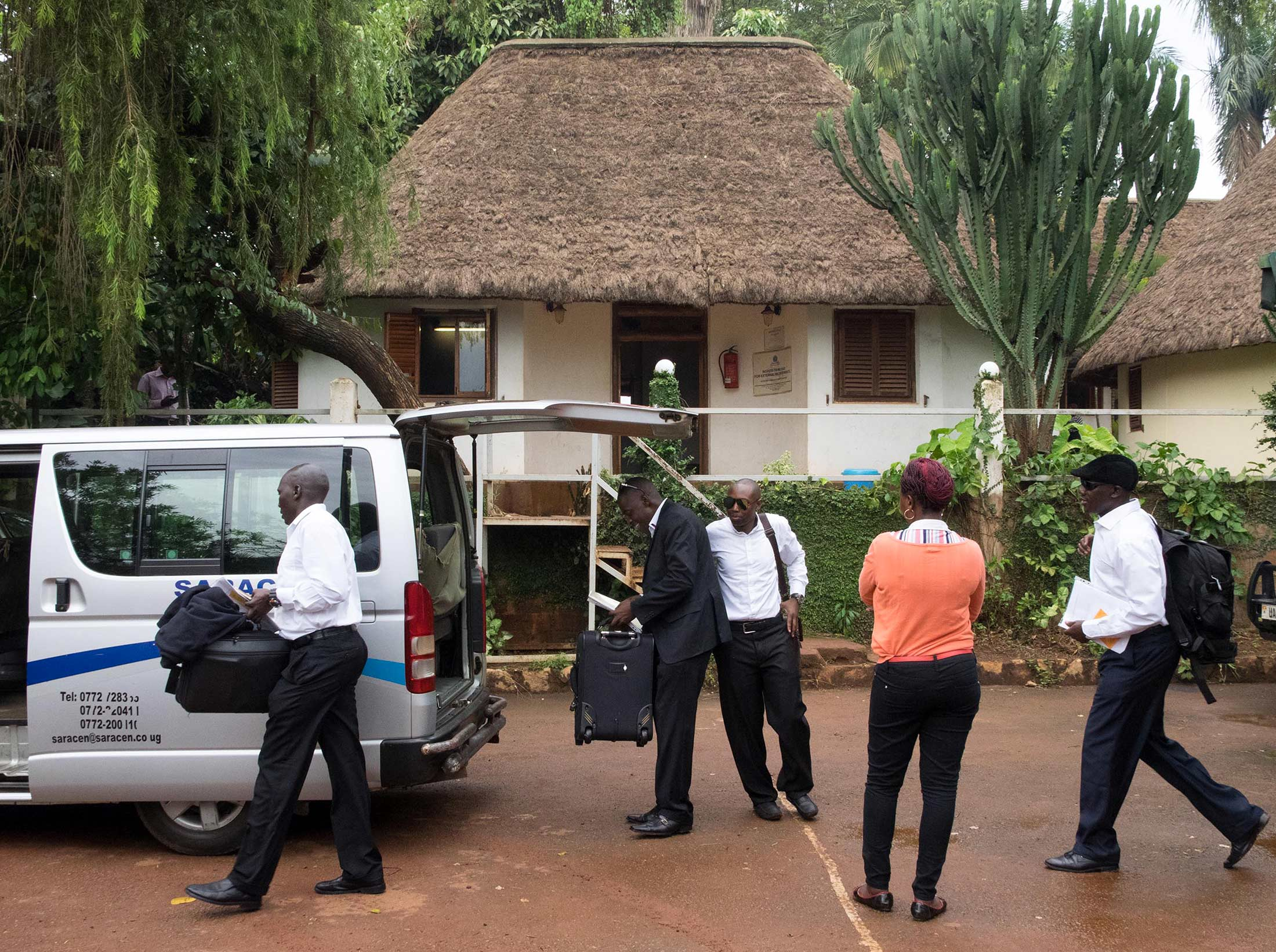 Security guards load a van with their belongings at Saracenu0027s compound before setting off for Iraq. & Ugandau0027s Top Export: Mercenaries