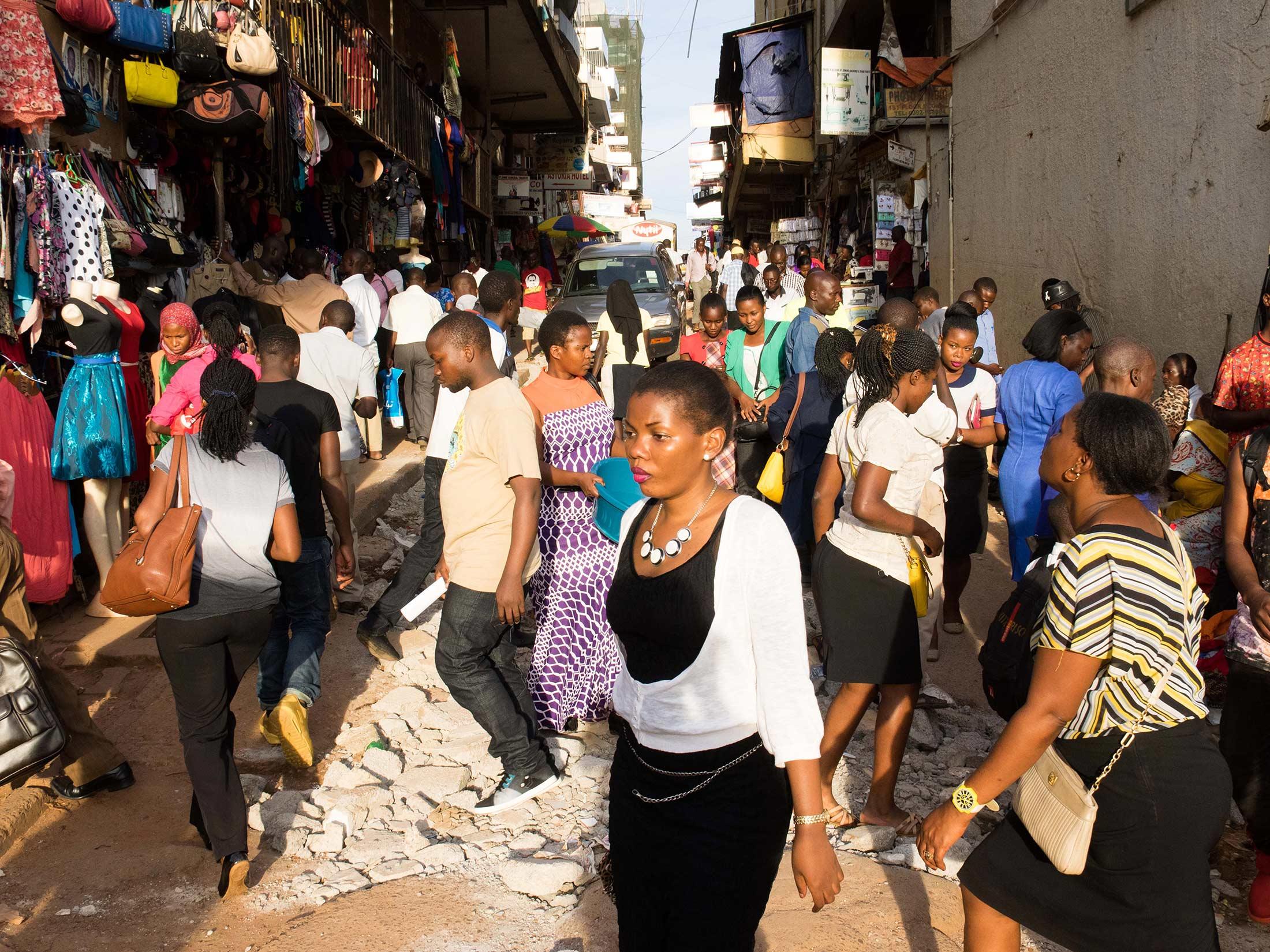 A street in K&ala.  sc 1 st  Bloomberg & Ugandau0027s Top Export: Mercenaries