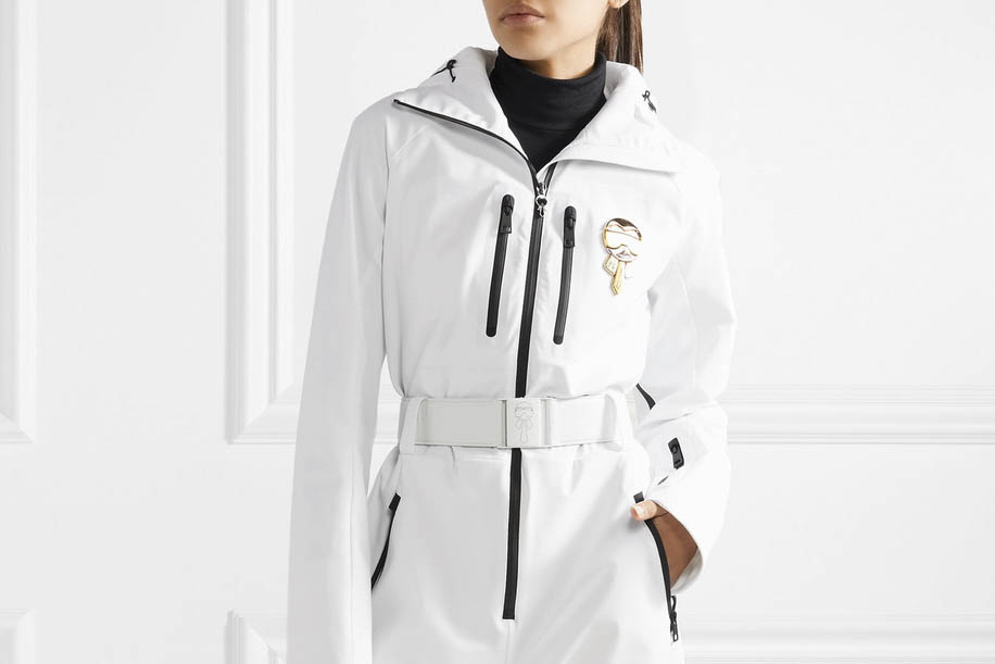 my Gucci snowsuit on—$3,000 and worth every penny.