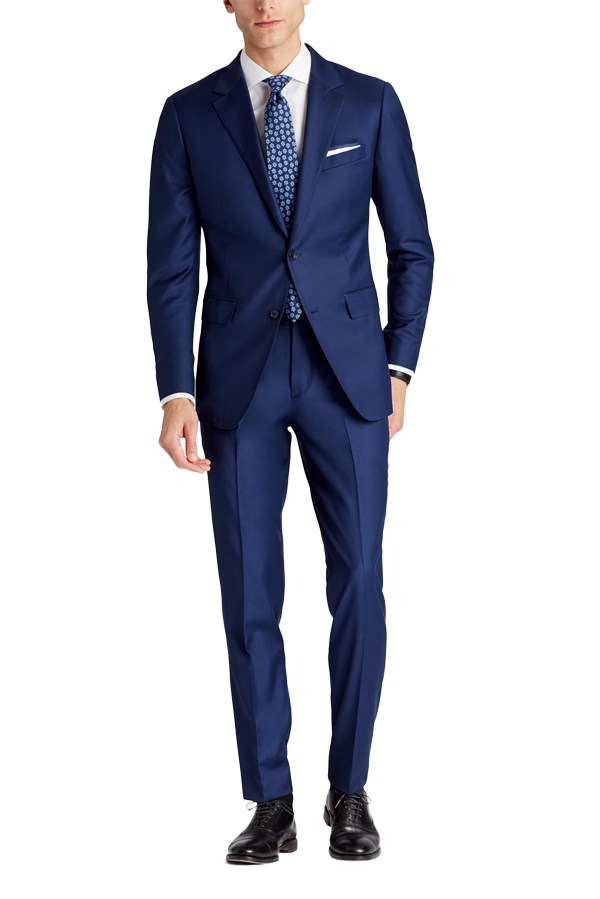 Ralph Lauren Slim Fit  Navy Blue Pinstriped Two Button Wool Suit