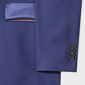 1c57dd5236d848 Small details such as pocket flap linings and under-collar melton make this  suit feel special.