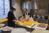 Colline Emiliane chefs, owners, and sisters Anna, left, and Paola Latini are pasta specialists.