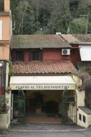 The entrance to the Testaccio restaurant.