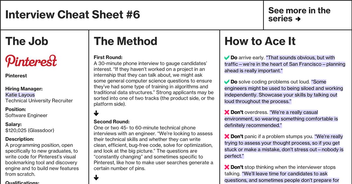 Interview Cheat Sheet: Pinterest | Bloomberg Business - Business