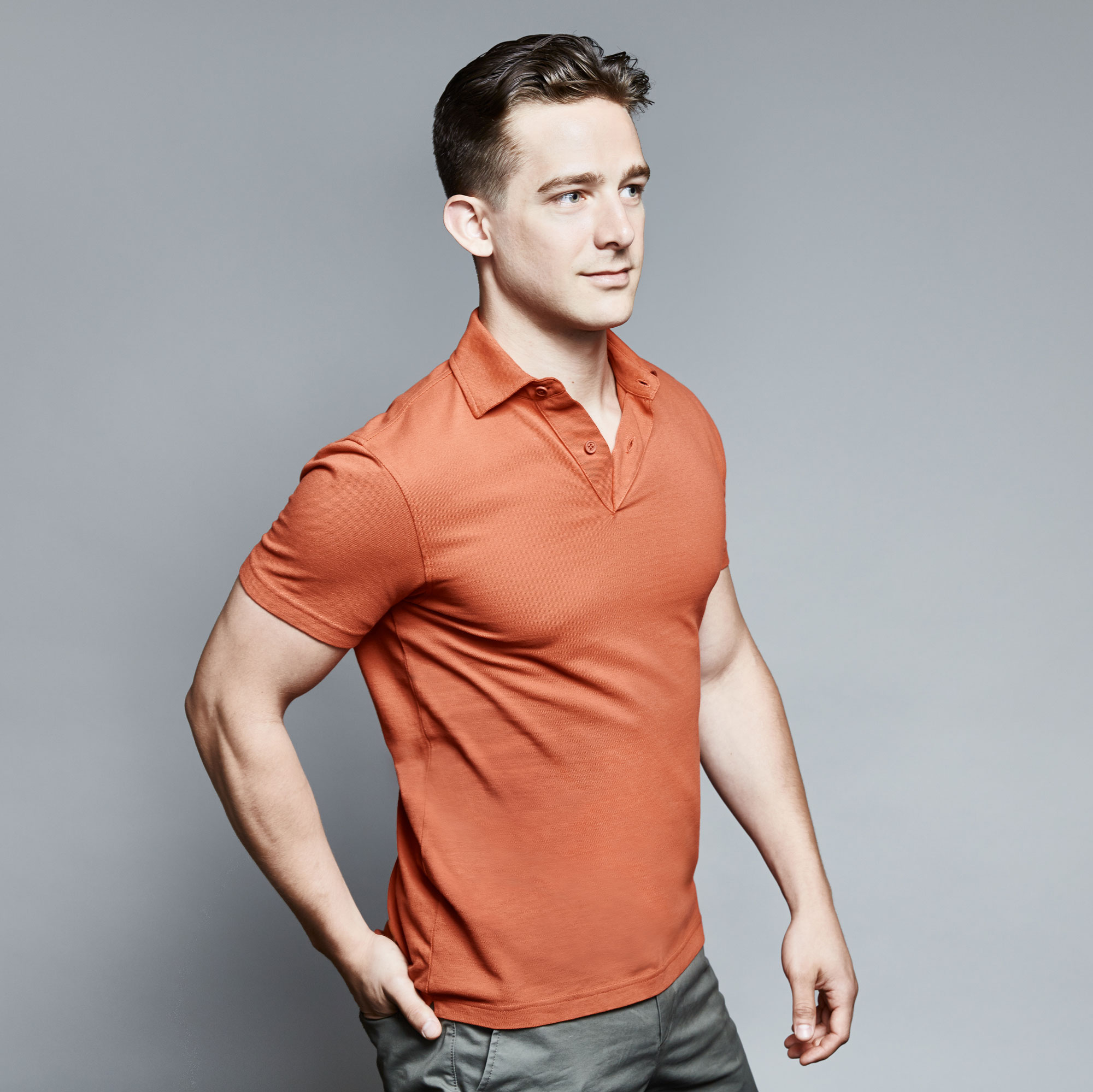Collection men s athletic fit polo shirts pictures best for Dress shirts for athletic build