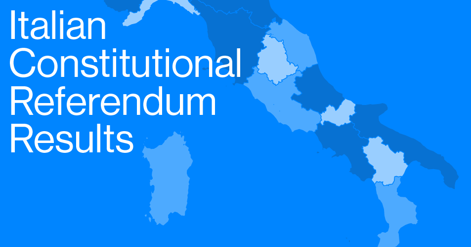 Italy's Constitutional Referendum Results