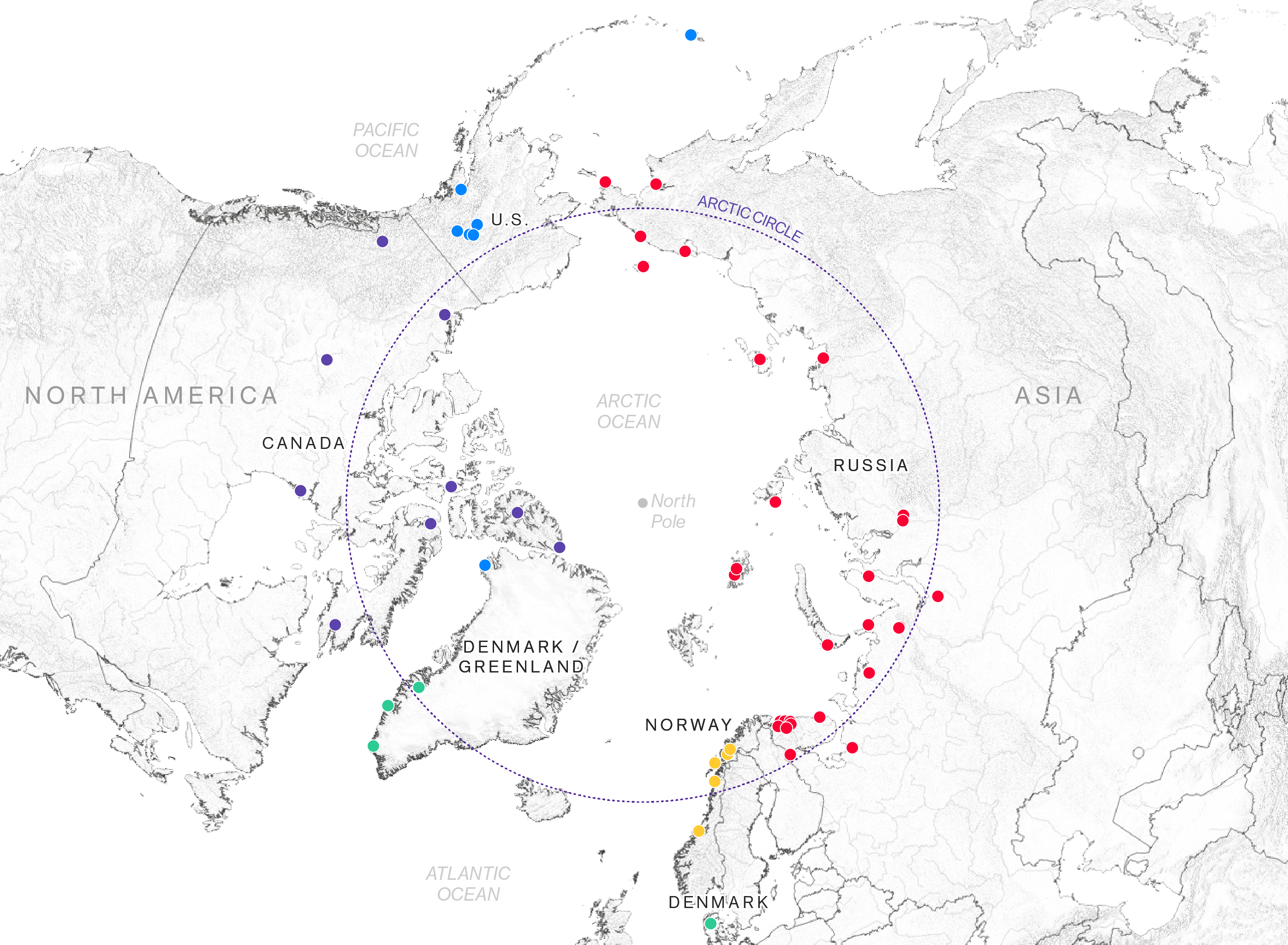 The Political Arctic How A Melting Arctic Changes Everything - Map of countries the us has meddled with