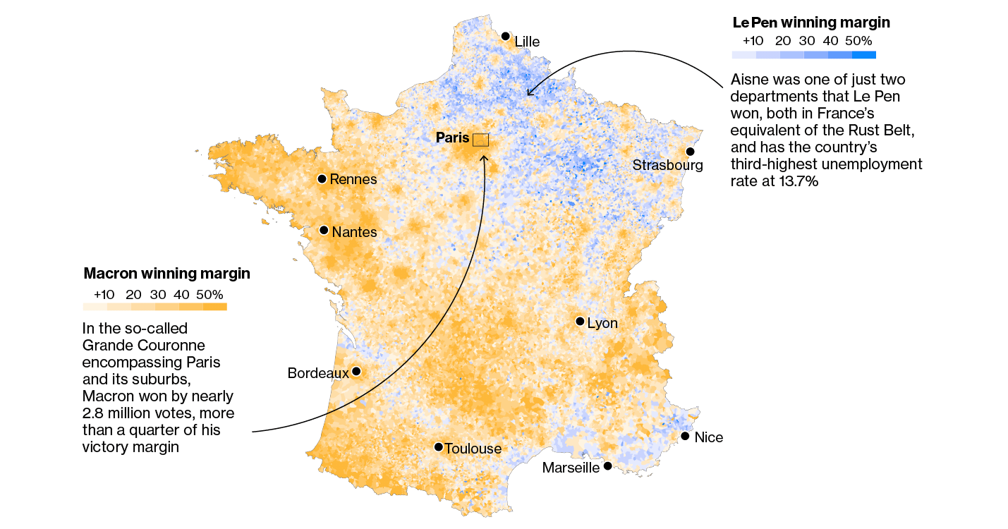 French Election Second Round Maps
