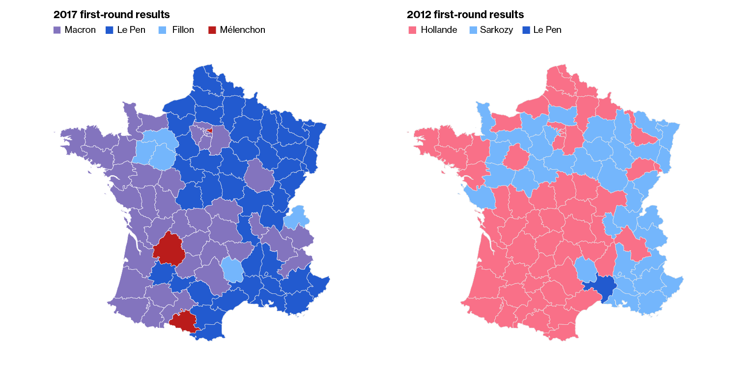Map Of France Election Results.Macron And Le Pen Are Looking At Two Different Versions Of