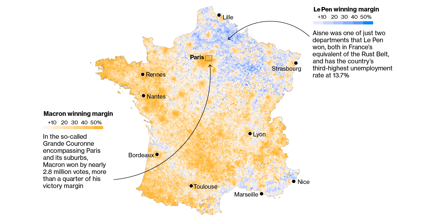 Map Of France Nantes.French Election Second Round Maps