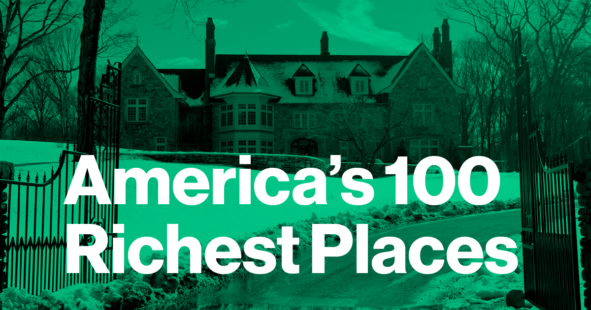 America s 100 richest places for Richest city in the us