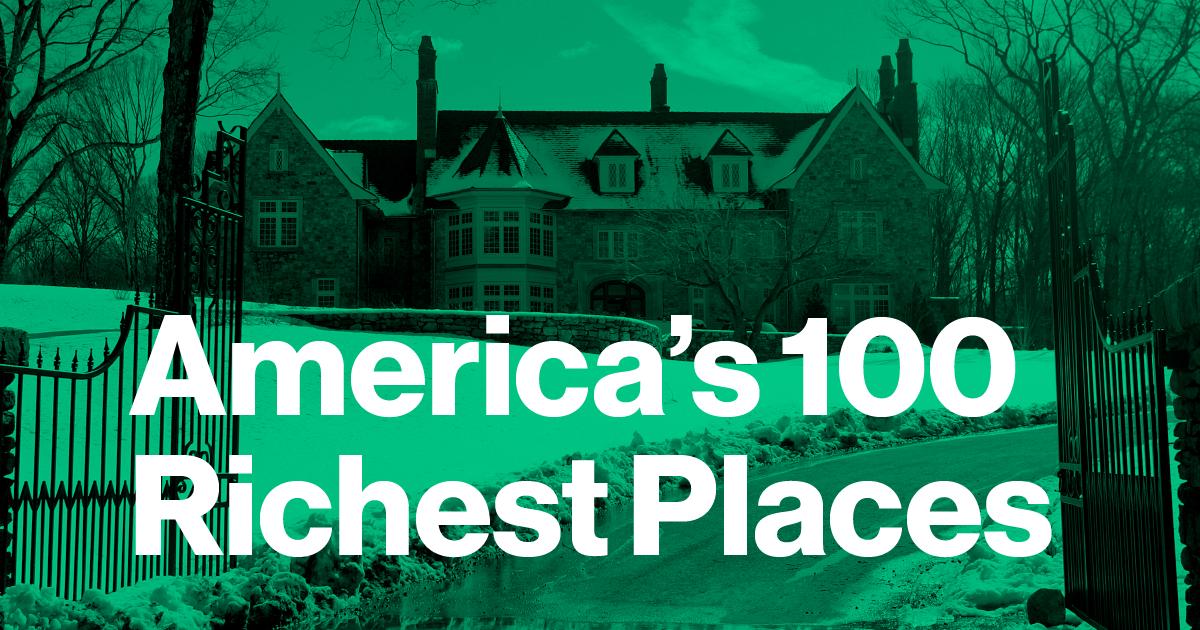 america�s 100 richest places