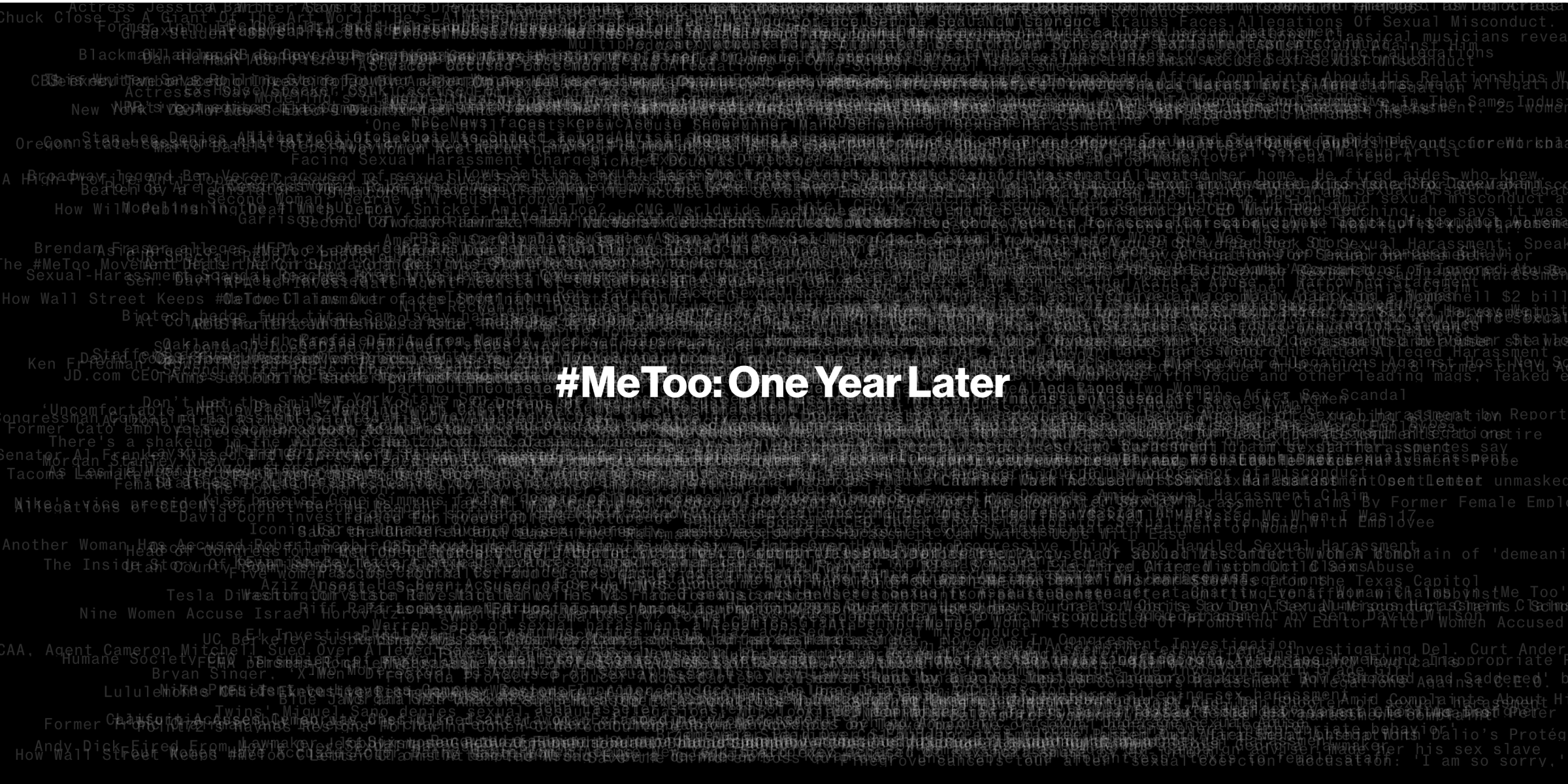 MeToo's First Year Ends With More Than 425 Accused